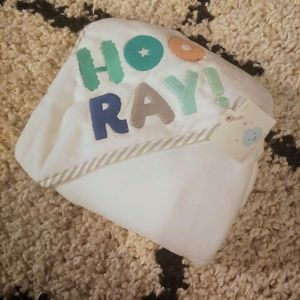 Cloud Island Hooray Hooded Towel NWT